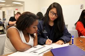 tutors black girl and asian girl